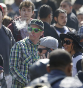 stoned crowd